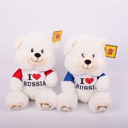 Медведь сид. в футболке 23 см
